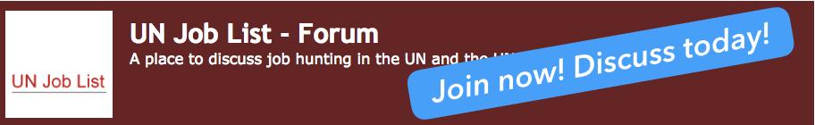 United Nations job vacancies on the UN Job List